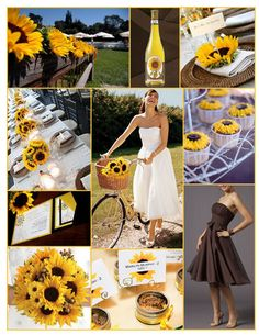 yellow and brown wedding with sunflowers - Bing Images
