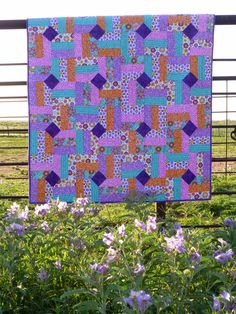 """Quick Quilt Using 2 1/2"""" Strips or a Jelly Roll -- Missouri Star Quilt Company -- blog by Lovin' Life At The End Of The Dirt Road"""