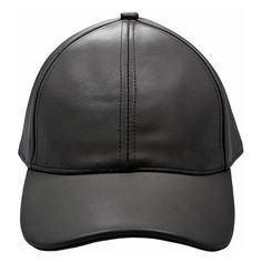 c31404375cf Black Leather Cap ( 89) ❤ liked on Polyvore featuring accessories
