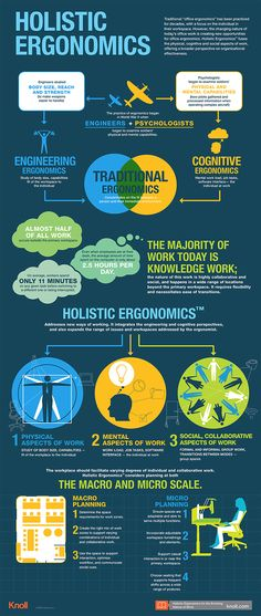 Holistic Ergonomics | Infographic | Knoll Workplace Research | Inspiration