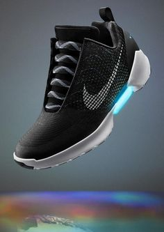 The Nike HyperAdapt 1.0 sneakers automatically tighten when you slip into them