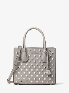 MICHAEL KORS Mercer Studded Leather Crossbody. #michaelkors #bags #canvas #crossbody #leather #lining #polyester #shoulder bags #hand bags #