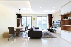 HDB 5-Room Standard Flat, 112 sqm. Highlights of flat include dry and wet kitchen, featured walls for concealment and glass wardrobe in mater bedroom.