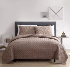 Taupe-Master-Bedroom-Bedding-Luxury-Twin-Full-Queen-King-Size-3-Piece-Quilt-Set