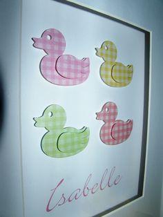 Delightful Ducks Personalised Framed Art