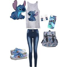 Disney Stitch themed outfit - Polyvore: