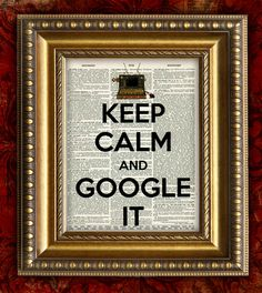 KEEP CALM and GOOGLE It  Dictionary Art Print  Antique Book Page Art Print 8x10 Steampunk Computer. $10.00, via Etsy.
