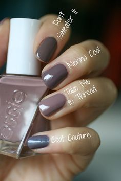 Wow. This colour is absolutely gorgeous. I'm so incredibly into this dusty taupe with mauve-purple tones. I was under the i...