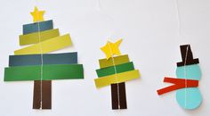 Christmas craft - paper ornaments/mantle decorations that kids can help make