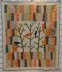 Blue Jay Way Quilt Pattern by Abbey Lane Quilts at KayeWood.com. This beautiful mix of fabrics combined with the birds and branches creates a beautiful quilt. Special techniques for the rows and applique make it a quick quilt to put together. Choose you favorite fat quarters and remember, it's for the birds. http://www.kayewood.com/item/Blue_Jay_Way_Quilt_Pattern/3780 $9.50
