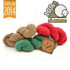 Fio de Lã Merino Sock 4ply 100g - 100% Lã  span style  a04f639318f