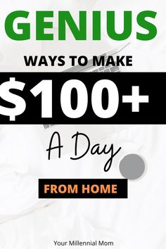 Genius ways to make 100 dollars a day or more from home! These are ways you can make money from home. Ways you can make $100 a day or more from the comfort of your own home! #100dollarsaday #makemoneyonline #makemoneyblogging #makemoneyfromhome #makemoneyfast #makemoneyathome #makemoneyonlinefree #makemoneyonlinefast #makemoneyonlineideas  #online #onlinejobs #workfromhome #workfromhomejobs #workfromhomeideas Work From Home Jobs, Make Money From Home, Way To Make Money, Make Money Blogging, Make Money Online, Customer Service Jobs, Make 100 A Day, Virtual Assistant Jobs, Easy Jobs
