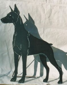doberman steel cutout