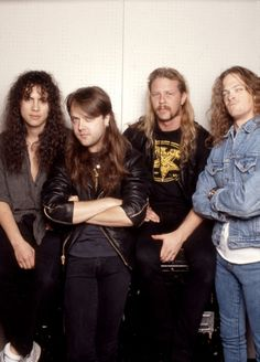 Metallica - L-R: Kirk Hammett, Lars Ulrich, James Hetfield, Jason Newsted…