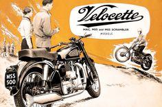 Affiche VELOCETTE 1955 Garage Atelier Vintage par frenchprintorama