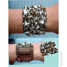 Bracelete Pedras & Madeira www.munayartes.com