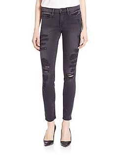 FRAME Distressed Le Skinny Rip Jeans
