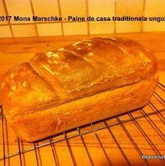 Paine de casa traditionala ungureasca | Savori Urbane Banana Bread, Cabana, Desserts, Bread Baking, Thermomix, Tailgate Desserts, Deserts, Cabanas, Postres