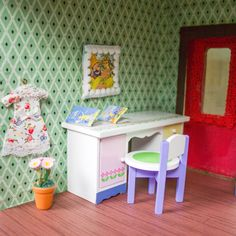 Ein Vintage-Puppenhaus renovieren: Haus Nr. 2 ist fertig! | Kreativlabor Berlin