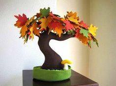 DIY Creative Handmade Felt Trees from Template Felt Diy, Handmade Felt, Felt Crafts, Diy And Crafts, Arts And Crafts, Meery Christmas, Fall Mesh Wreaths, Felt Tree, Holiday Tree