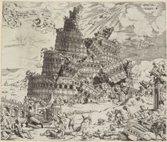 Cornelis Anthonisz, The Fall of the Tower of Babel,1547    babylon falling down…