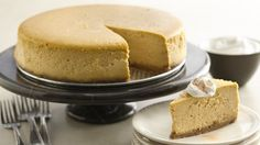 Extraordinary cheesecake? Make one with a scrumptious blend of sweet brown sugar, aromatic spice and homey pumpkin.