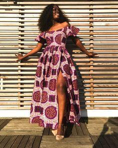 Alice Dress African Dress Long African Dress Long Maxi African Dress With Slit Ankara Dress African Fabric African Maxi Dress African Print Dresses, African Dresses For Women, African Print Fashion, African Wear, African Attire, African Fashion Dresses, African Prints, Fashion Prints, Ankara Gowns