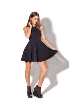 Matte Reversible Skater Dress Black Milk Clothing Size M (Want to swap for L desperately! Casual Work Dresses, Sexy Dresses, Nice Dresses, Dresses For Work, Skater Dresses, Nylons, Cocktail Dresses Online, Vestidos Sexy, Dress Plus Size