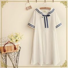 Short-Sleeve Sailor-Collar T-Shirt Dress from #YesStyle <3 Fairyland YesStyle.com