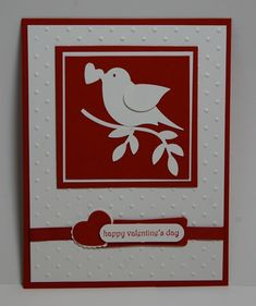 stampin up card ideas bird punch stampingjillcom jill - Stampin Up Valentine Cards