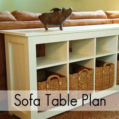 Take the Side Street: Sofa Table Plan {PDF Download}
