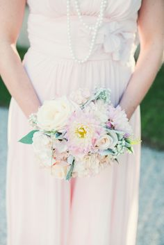 pretty pink bouquet | Blue Elephant Photography | Bridal Musings Wedding Blog