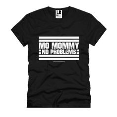 MO MOMMY NO PROBLEMS® | BLACK BABY & KIDS TSHIRT