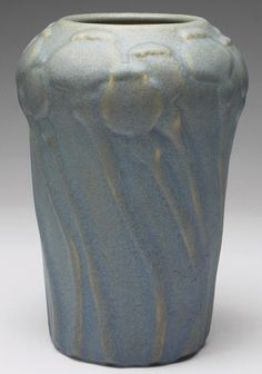 Van Briggle Pottery poppy pod vase, 1903, 9-1/2 inches high. Arts and Crafts Movement. www.treadwaygallery.com