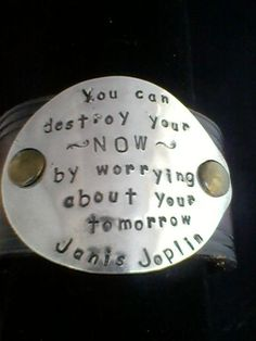 Janis Joplin quote handstamped on an Upcycled by SalvagedCreations, $25.00