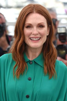 """Want to spice things up? Go for something bold like Julianne Moore. """"Reds are making a comeback. I feel like cinnamon and rose tones could have an end-of-summer moment,"""" Fugate says."""