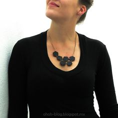 Ohoh Blog - diy and crafts: Hexagon necklace