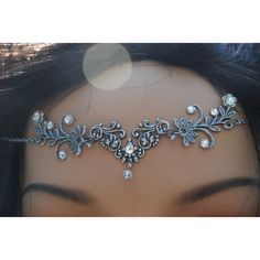 Head Jewelry Headjewelry Tiara Head Chain Headchain Head Piece... ($39) ❤ liked on Polyvore featuring accessories, hair accessories and hair chain accessories