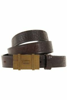 0e7831401f5 Dsquared2 Men Vintage Effect Leather Belt - Spence Outlet Travel  Accessories