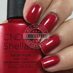 CND Shellac Tartan Punk