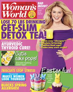Magazine recipe for cover for Woman's World Magazine Easter 2015 Edition - Recipe and interview