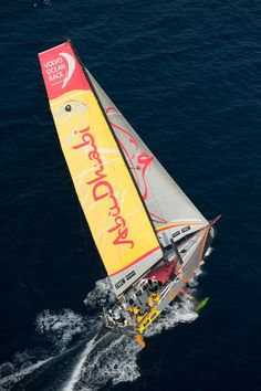 January 27, 2015. Abu Dhabi Ocean Racing arrives in Sanya in second position, after 23 days of sailing. - Victor Fraile/Volvo Ocean Race