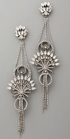 Erickson Beamon China Club Earrings pinned with #Bazaart - www.bazaart.me