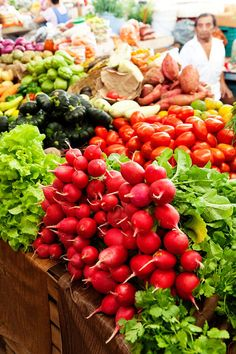 Colourful produce at the Valladolid Farmers' Market, Tulum, Yucatan, Mexico.