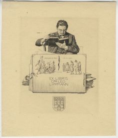 Bookplate by Alfred Cossmann for Leo Lippmann, ??
