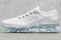 Release Date: Nike Air VaporMax White Blue Kicks Shoes, Boys Nike, New Sneakers, Sneaker Magazine, Runway Fashion, Women's Fashion, Fashion Shoes, Africa Fashion, Petite Fashion