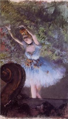 Dancer - Edgar Degas Start Date: c.1877 Completion Date:c.1878 Style: Impressionism Genre: genre painting Technique: pastel Gallery: Private Collection