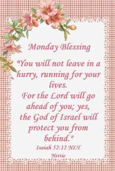 Bible Words, Scripture Verses, Morning Prayers, Good Morning Wishes, Isaiah 52, Monday Greetings, Monday Prayer, Monday Blessings, Day For Night