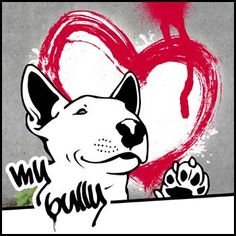 Street Art Style Bullterrier Bulli Minibulli urban art