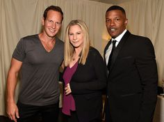 Patrick Wilson, Barbra Streisand and Jamie Foxx backstage during Barbra - The Music... The Mem'ries... The Magic! Tour at Barclays Center of Brooklyn on August 13, 2016 in New York, New York. (Photo by Kevin Mazur)